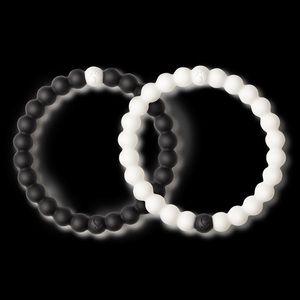 Black and White Lokai Bracelet Set